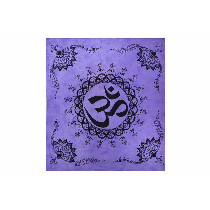 "90""x80"" Om Tapestry - East Meets West USA"