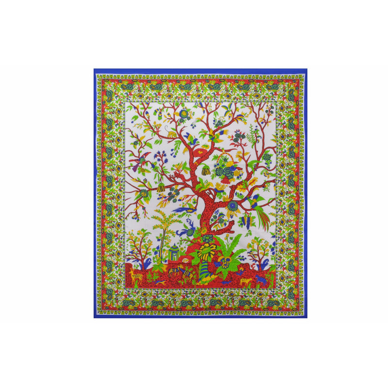 "90""x80"" Tree of Life Tapestry - East Meets West USA"