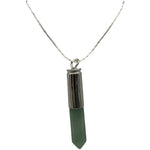"1.5"" Metal & Gemstone Bullet Necklace"