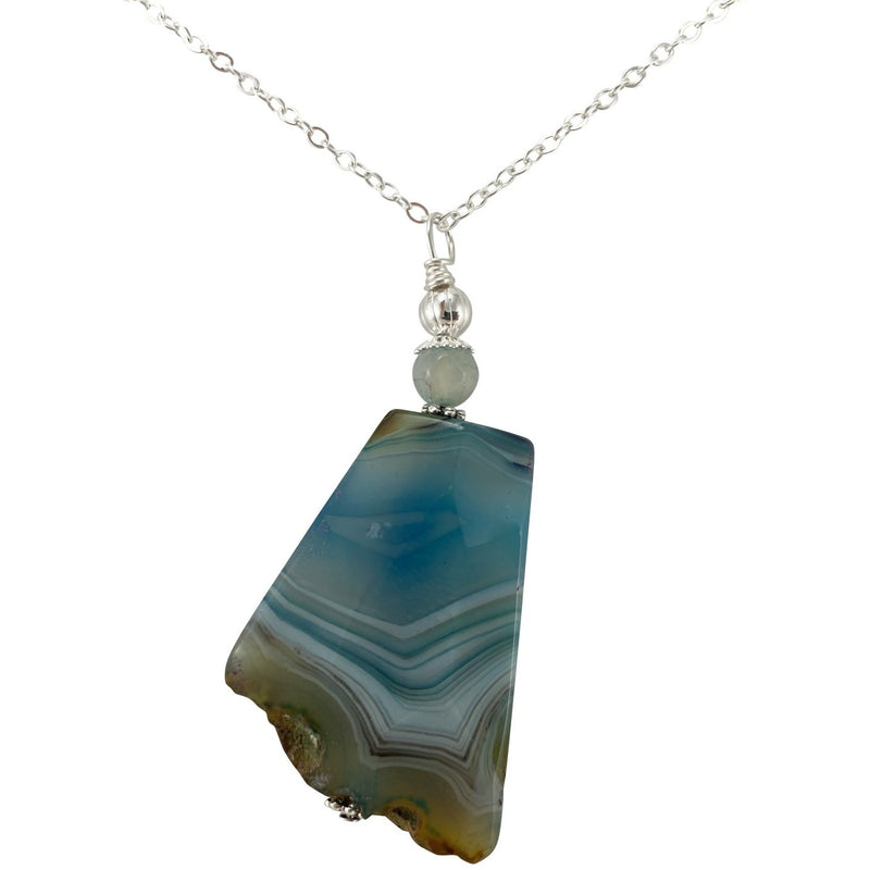 Agate Trapezoid Necklace - East Meets West USA