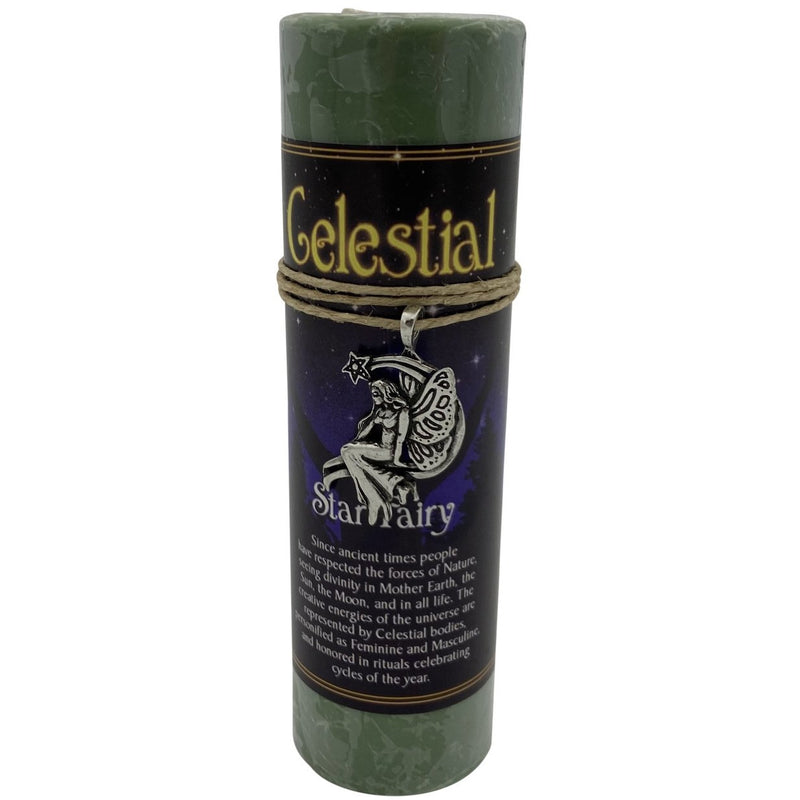 Celestial Candle: Star Fairy with Pendent - East Meets West USA