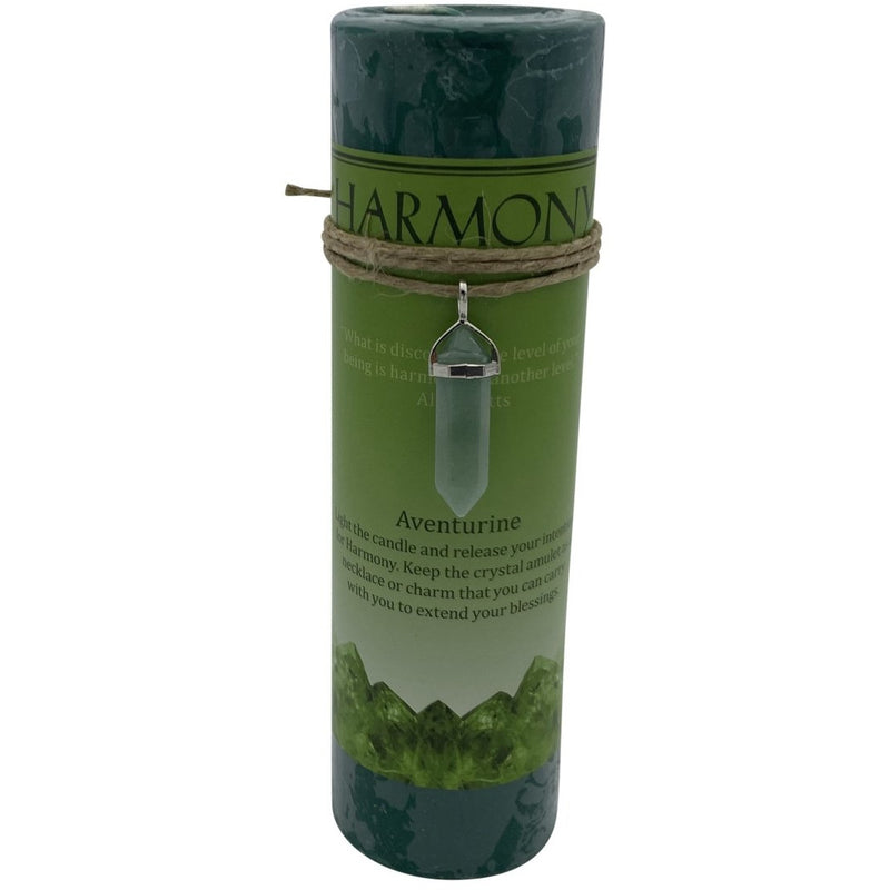 Crystal Energy Harmony Aventurine Candle - East Meets West USA