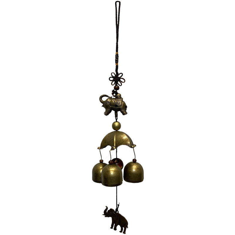 Elephant and Bells Wind Chime - East Meets West USA