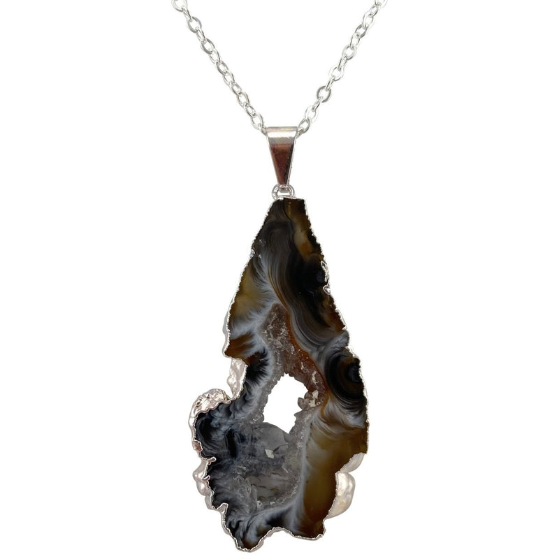 Geode Slice Necklace - East Meets West USA