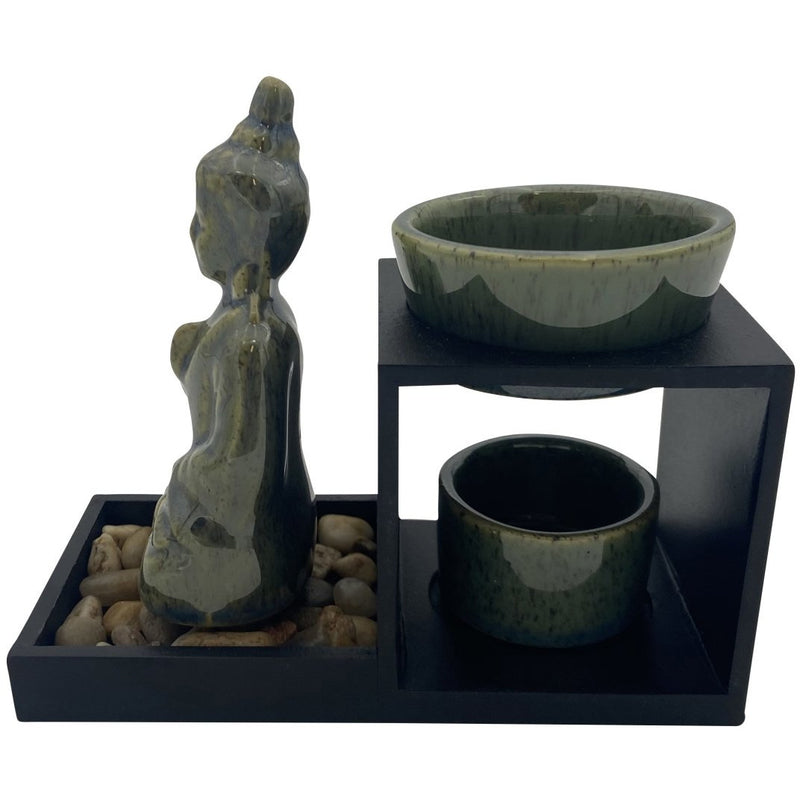 Green Buddha Oil Burner with Stand - East Meets West USA