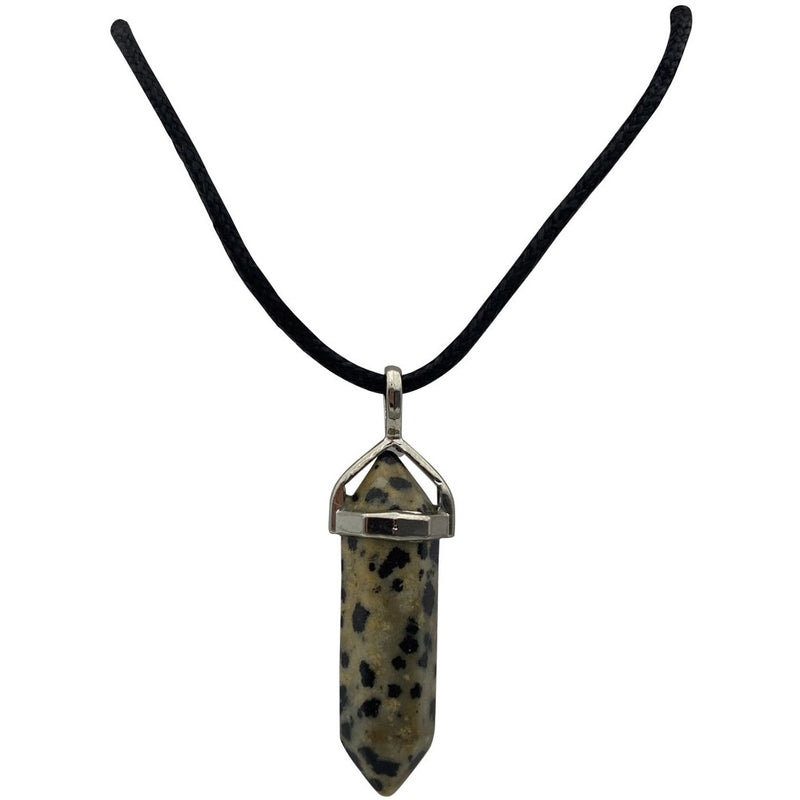 Joy Carded Dalmatian Jasper Point Pendent Necklace - East Meets West USA