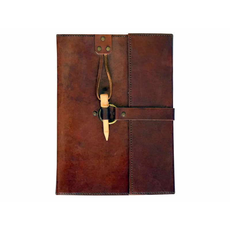 Leather Journal w/ Peg Closure - East Meets West USA