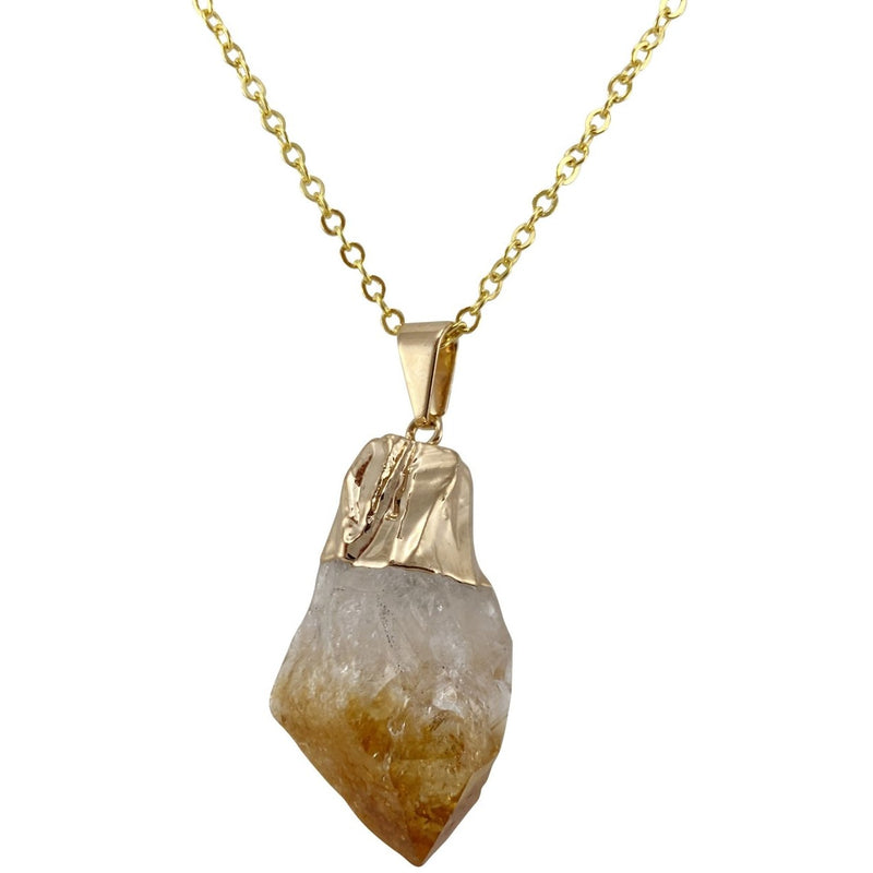 Natural Citrine Point Necklace - East Meets West USA