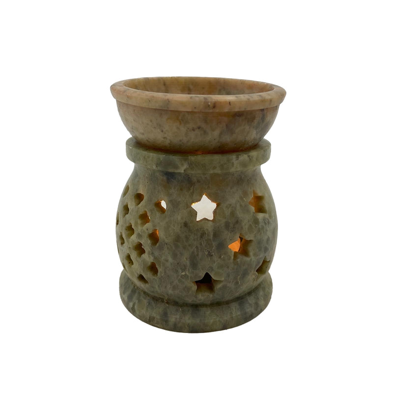 Oval Soapstone Oil Burner - East Meets West USA