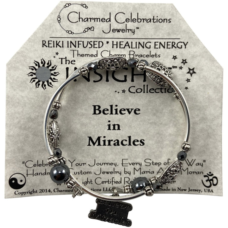 Reiki Infused Insight Bracelet: Believe in Miracles - East Meets West USA