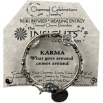 Reiki Infused Insight Bracelet: Karma. What goes around comes around - East Meets West USA