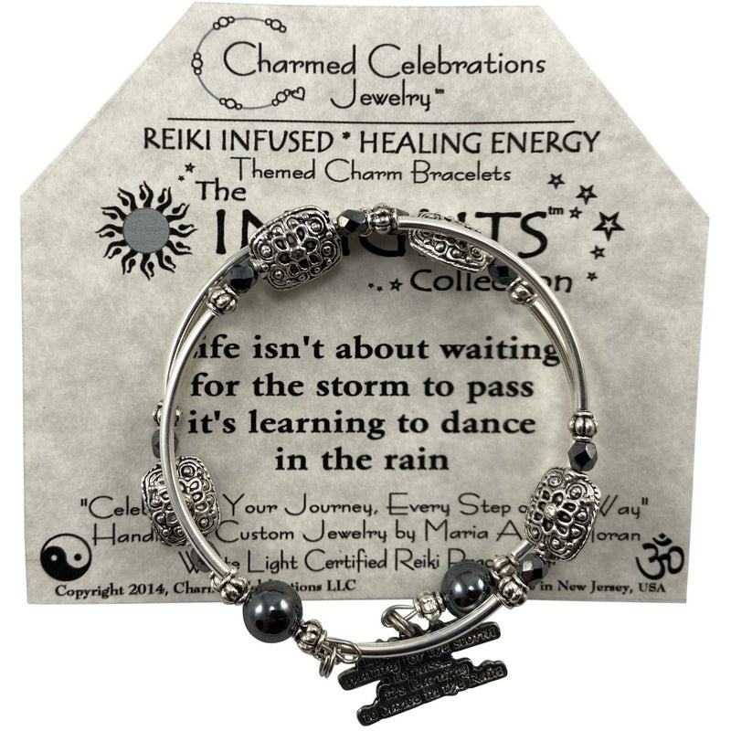 Reiki Infused Insight Bracelet: Life isn't about waiting for the Storm to pass, it's Learning to Dance in the Rain - East Meets West USA