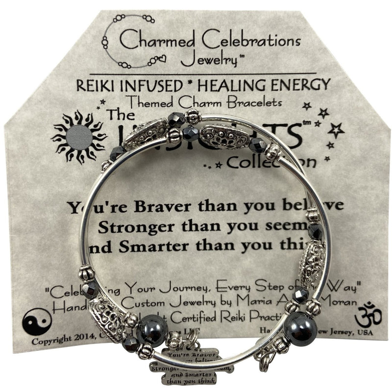 Reiki Infused Insight Bracelet: You are Braver than you believe. Stronger than you see and Smarter than you think - East Meets West USA
