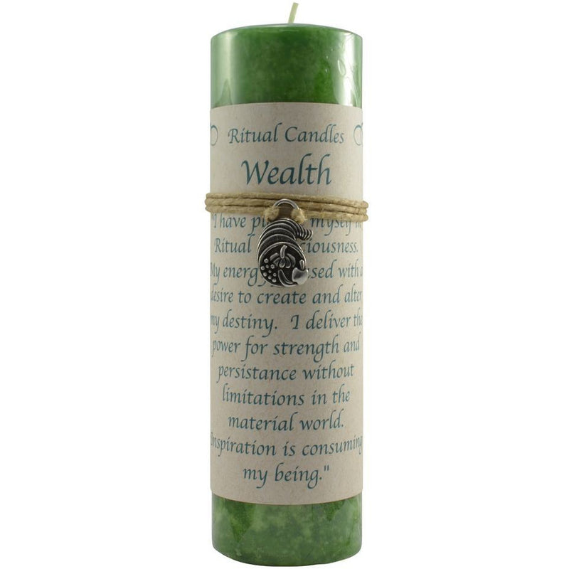 Ritual Candle: Wealth with Pendant - East Meets West USA