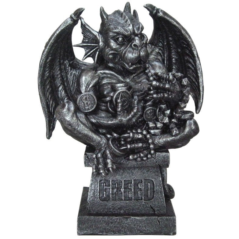 Seven Deadly Sins Gargoyle: Greed Figurine - East Meets West USA