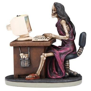 Women Skeleton at Computer Figurine - East Meets West USA