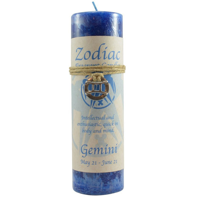 Zodiac Candle: Gemini with Pendant - East Meets West USA