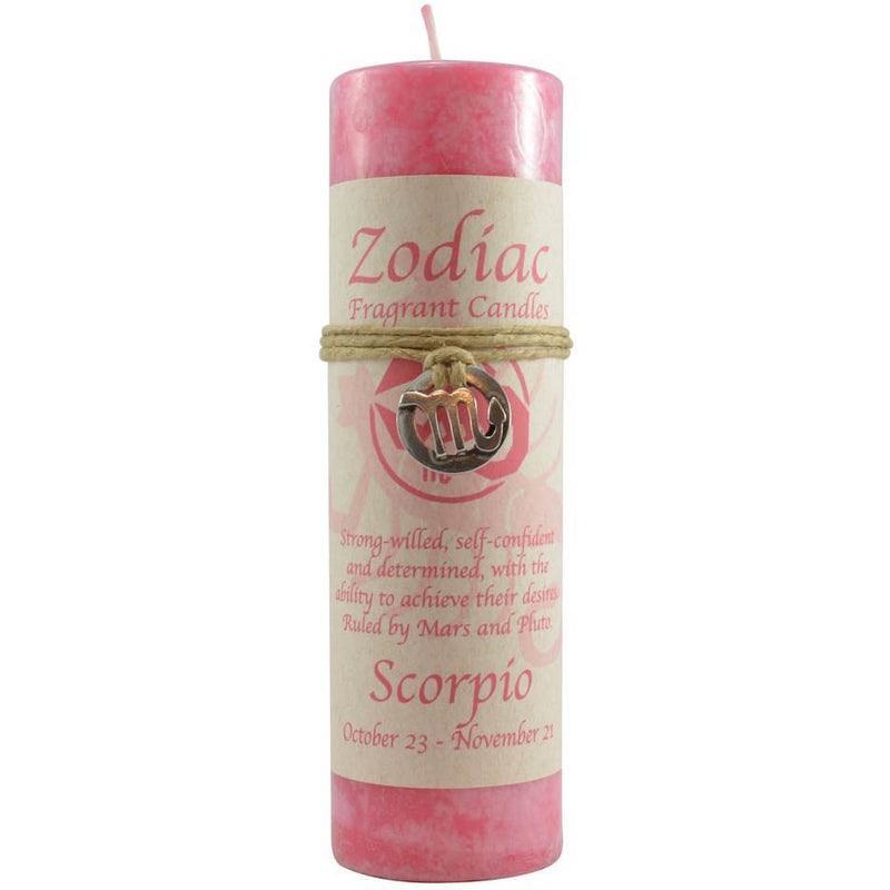 Zodiac Candle: Scorpio with Pendant - East Meets West USA