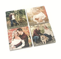 Personalized Photo Coasters, Wedding Gift, Natural Stone Sandstone, Ceramic or Travertine - JensScraps