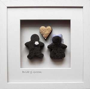 Bride and Groom in square Frame
