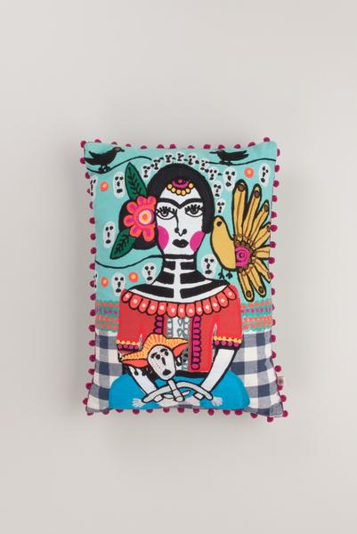 frida khalo  filled rectangular cushion