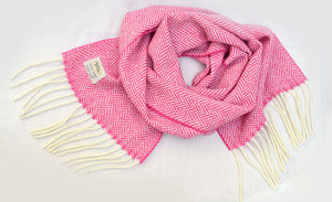 Studio Donegal Candy Herringbone scarf
