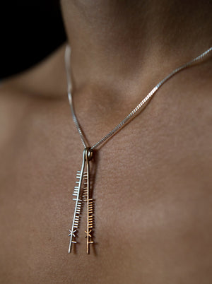 Irish blessing necklace-Ogham Treasure.com