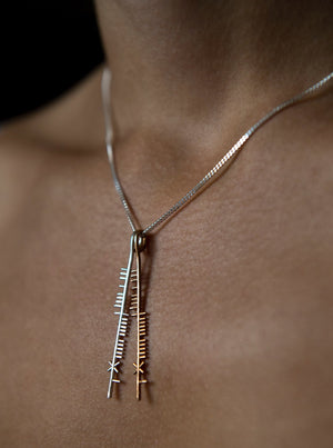 irish blessing necklace , ogham treasure