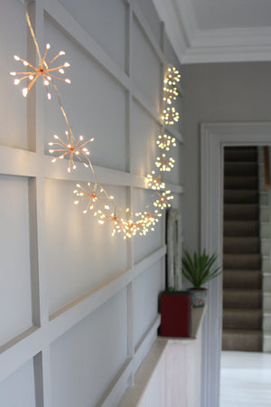 Copper Starburst lights chain