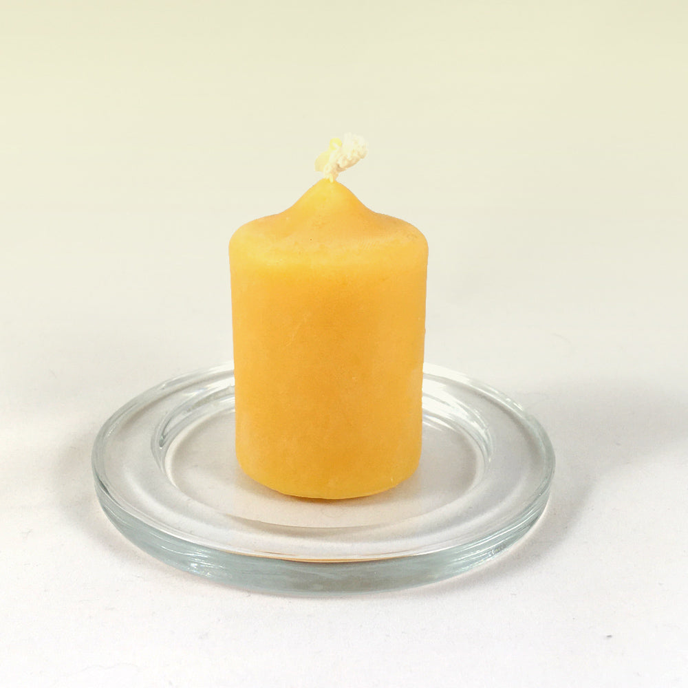6 cms pure beeswax candle