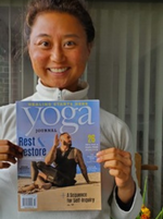 "A Sun Salutations' Commissioned Photo is the Sept/Oct 2020 Cover of the ""Yoga Journal"""