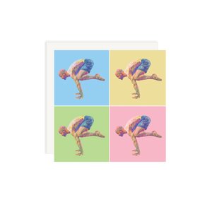 Load image into Gallery viewer, Lui Ferreyra Crane Pose - 4 Squares