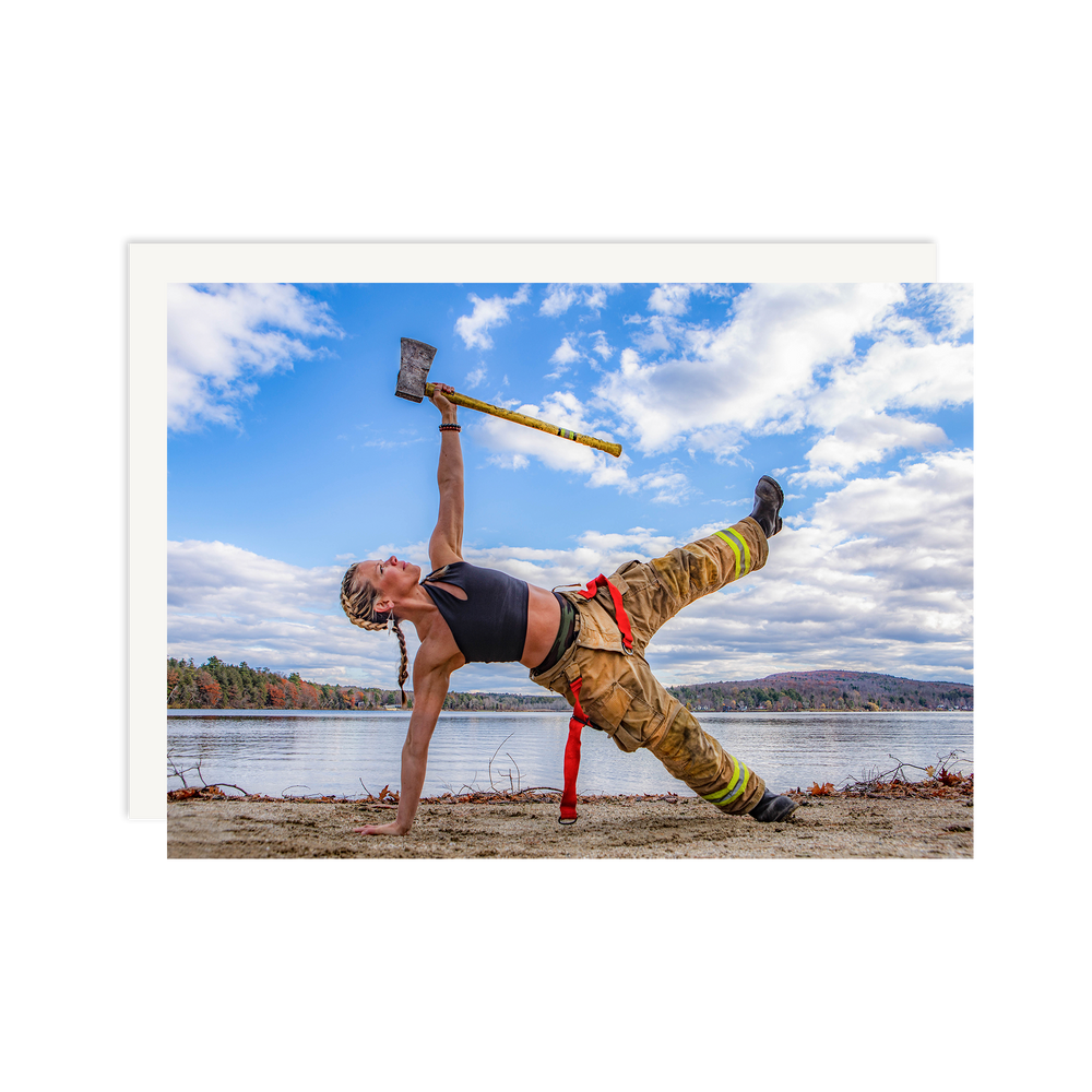 Load image into Gallery viewer, Female Firefighter Side Plank