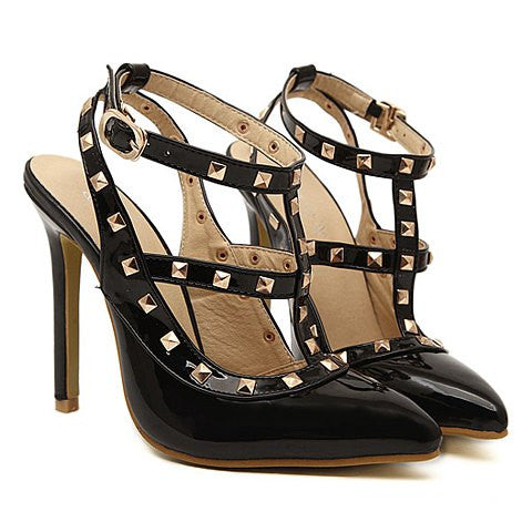 Street Style Women's Pumps With Rivets and Pointed Toe Design