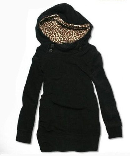 Wild Side Loose-Fitting Leopard Print Hoodie