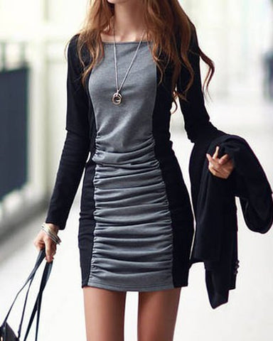 Aaliyah Color Block Sweater Dress