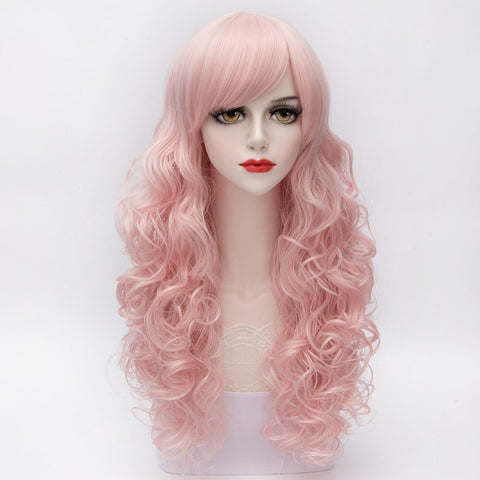 Lolita Wavy Long Capless Side Bang Synthetic Wig