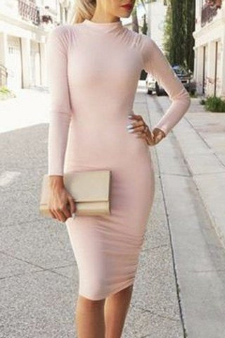 Pink Perfection Long Sleeve Dress