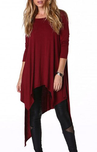 Audrey Asymmetrical Long Sleeve Top