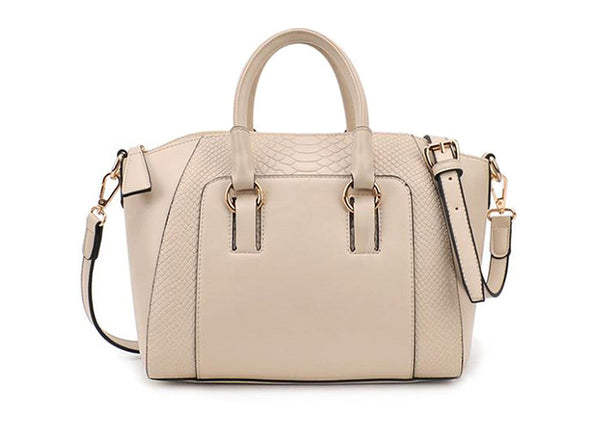 Simple Women's Street Level Handbag with Tote and Crocodile Veins Design