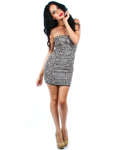 Kristine Sweetheart Tube Dress