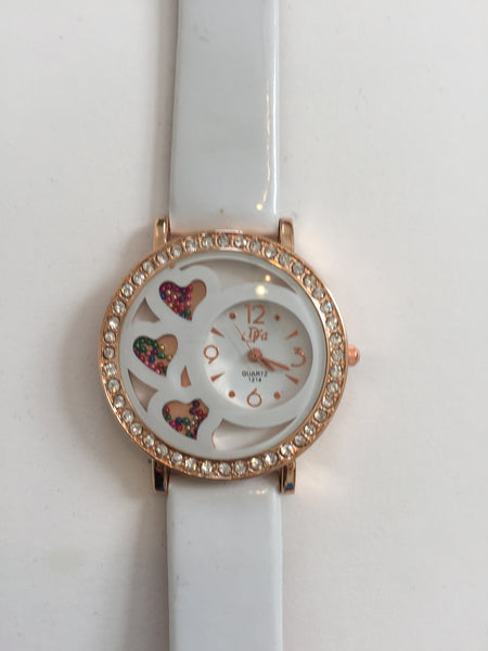Queen of Hearts Rhinestone Watch