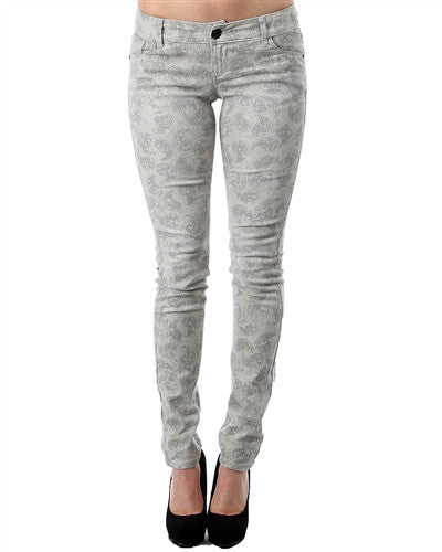 Crazy for Paisley Printed Skinny Jean