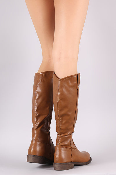 Round Toe Riding Knee High Boots