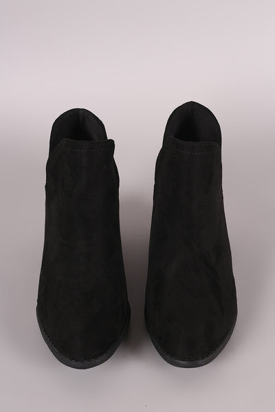 Liliana Split Chunky Heeled Booties