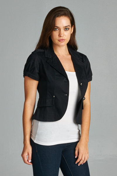 Women's Button Down Jacket with Pockets
