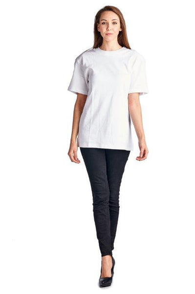 Women's Cotton Double Round Neck Tee