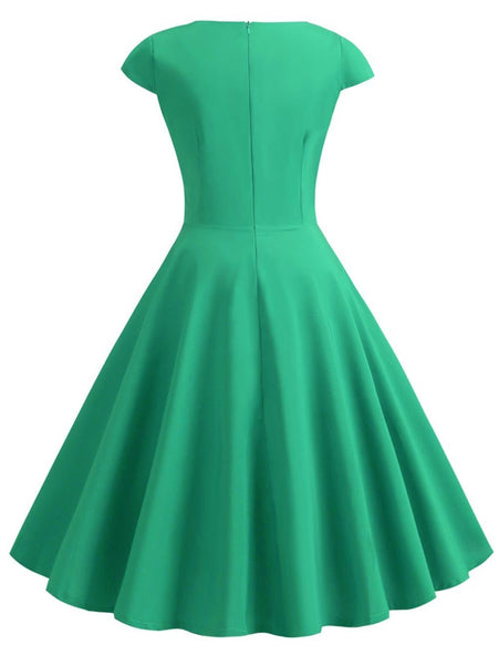 Plus Size Vintage Ruched Pin Up Dress