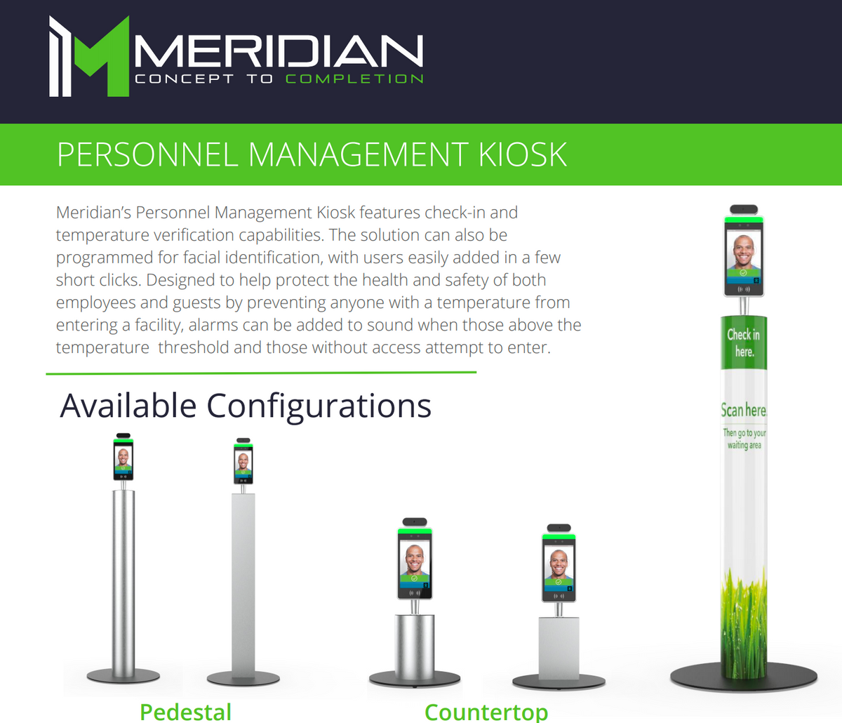RTW9 - Meridian/ PERSONNEL MANAGEMENT KIOSK (Shipping cost Included)