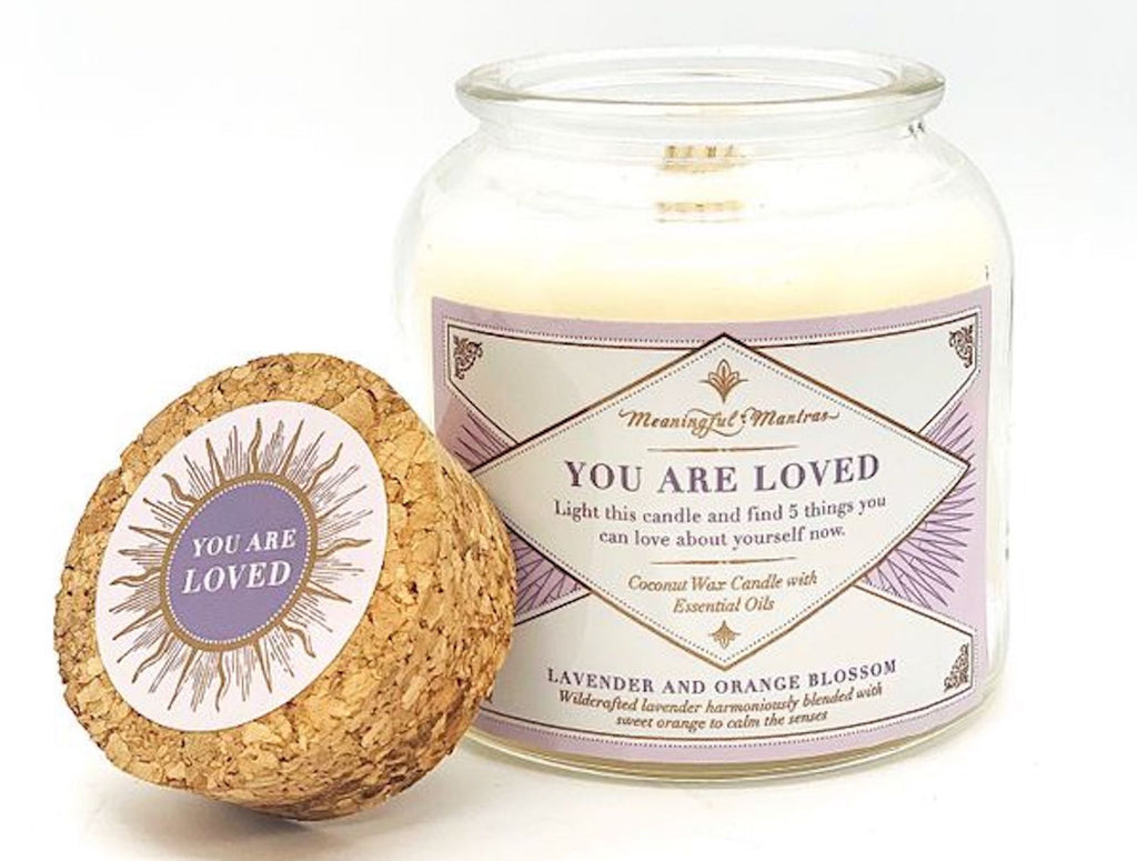 You Are Loved - Lavender/Orange Blossom 6 oz Candle - The Self-Care Seed Co.